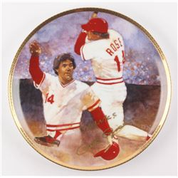 """Pete Rose Signed LE """"The Reigning Legend"""" Porcelain Plate Inscribed """"Thanks"""" (Gartlan Authentic)"""