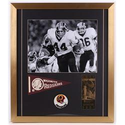 John Riggins Washington Redskins 20x23 Custom Framed Photo Display with Mini-Pennant, Patch  23 KT G