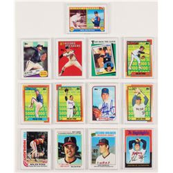 Lot of (13) Nolan Ryan LE Porcelain Cards with (1) Signed  Display Case (Preferred Customer Service