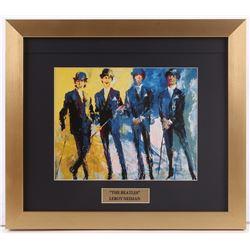 "LeRoy Neiman ""The Beatles"" 14x16 Custom Framed Print Display"