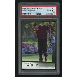 2001 Upper Deck #1 Tiger Woods RC (PSA 10)