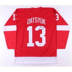 Pavel Datsyuk Signed Jersey (Beckett COA)