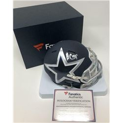 Amari Cooper Signed Dallas Cowboys AMP Speed Mini-Helmet (Fanatics Hologram)