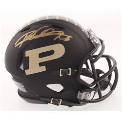 Rod Woodson Signed Purdue Boilermakers Flat Black Matte Speed Mini Helmet (Schwartz COA)