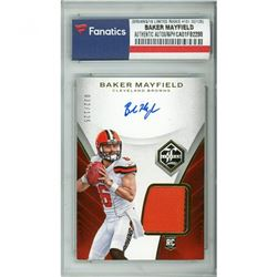2018 Limited #101 Baker Mayfield Jersey Autograph RC (Fanatics Encapsulated)
