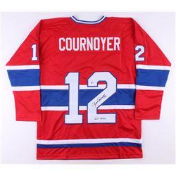 "Yvan Cournoyer Signed Jersey Inscribed ""HOF 1982"" (Beckett COA)"