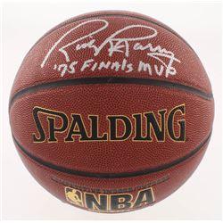 "Rick Barry Signed NBA Basketball Inscribed ""'75 Finals MVP"" (Schwartz COA)"