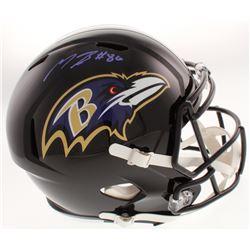 Miles Boykin Signed Baltimore Ravens Full-Size Speed Helmet (JSA COA)