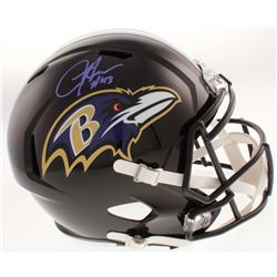 Justice Hill Signed Baltimore Ravens Full-Size Speed Helmet (JSA COA)