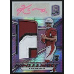 2019 Panini Spectra Radiant Rookie Patch Signatures Neon Pink #1 Kyler Murray RC #09/15
