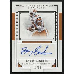 2016 Panini National Treasures Collegiate Signatures #8 Barry Sanders #11/15