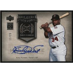2005 Upper Deck Hall of Fame Class of Cooperstown Autograph Silver #KP1 Kirby Puckett #11/15