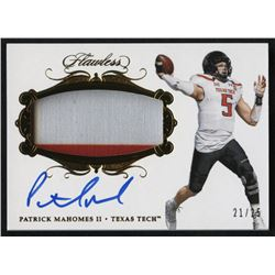 2018 Panini Flawless Collegiate Patch Autographs #49 Patrick Mahomes II #21/25