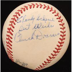 "Chuck Dressen Signed ONL Baseball Inscribed ""Best Wishes"" (PSA LOA)"