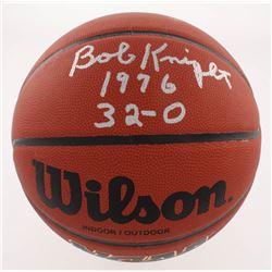 "Bob Knight Signed NCAA Basketball Inscribed ""1976""  ""32 - 0"" (Schwartz COA)"