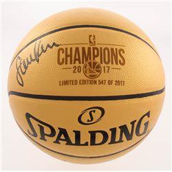 Steve Kerr Signed LE Golden State Warriors 2017 Champions Basketball (Schwartz COA)