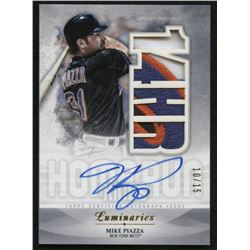 2019 Topps Luminaries Home Run Kings Autograph Patches #HRKAPMPI Mike Piazza #10/15