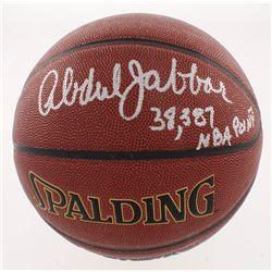 "Kareem Abdul-Jabbar Signed NBA Basketball Inscribed ""38,387 NBA Points"" (Schwartz COA)"