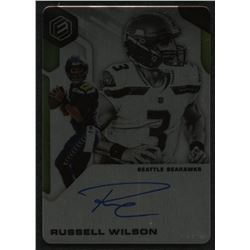 2019 Panini Elements Signatures Steel #70 Russell Wilson #1/15 EXCH