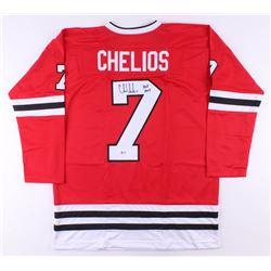 "Chris Chelios Signed Jersey Inscribed ""HOF 2013"" (Beckett COA)"