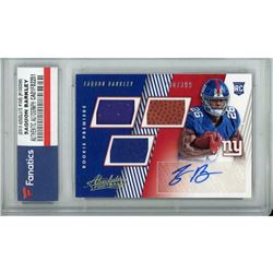 2018 Absolute #156 Saquon Barkley Jersey Autograph RC (Fanatics Encapsulated)