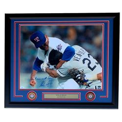 "Nolan Ryan Signed Texas Rangers 22x27 Custom Framed Photo Display Inscribed ""Don't Mess With Texas!"""