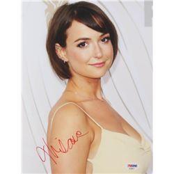 Milana Vayntrub Signed 8.5x11 Photo (PSA Hologram)