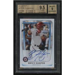 2011 Bowman Prospects #BP1B Bryce Harper Autograph (BGS 9.5)