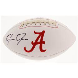 Josh Jacobs Signed Alabama Crimson Tide Logo Football (Beckett COA)