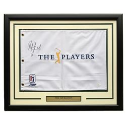 Phil Mickelson Signed The Players Championship 20x24 Custom Framed Pin Flag Display (JSA LOA)