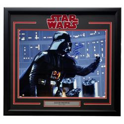 """Dave Prowse Signed """"Star Wars: The Empire Strikes Back"""" 22x27 Custom Framed Photo Display Inscribed"""