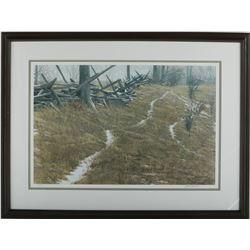 "Robert Bateman's ""Pasture Trails- Red-Fox"" LE Print"
