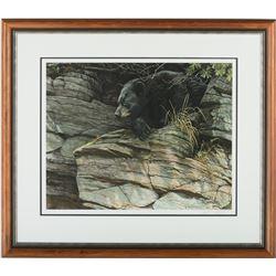 """Robert Bateman's """"Black Bear Repose"""" LE Print"""