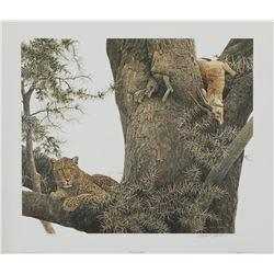 "Robert Bateman's ""Leopard and Thomson Gazelle Kill"" LE"