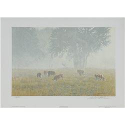 """Robert Bateman's """"On The Garden Wall"""" L.E. Print"""