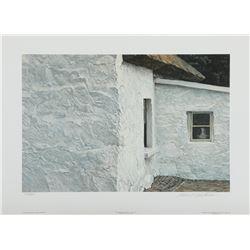 "Robert Bateman's ""Irish Cottage and Wagtail"" L.E. Print"