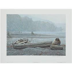 "Robert Bateman's ""Old Whaling Base and Fur Seals"" L.E."