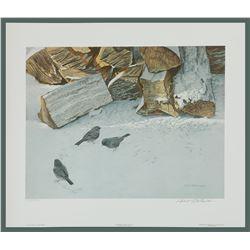 "Robert Bateman's ""Cherrywood With Juncos"" LE Print"