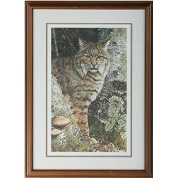 "Carl Brenders' ""Forest Sentinel - Bobcat"" LE Print"
