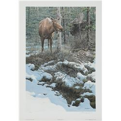 "John Seerey-Lester's ""Hidden Admirer - Moose"" LE Print"