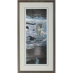 """Terry Isaac's """"Snow Shadows - Cougar"""" L.E. Print"""