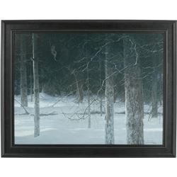 "Robert Bateman's ""Midnight Black Wolf"" L.E. Canvas"