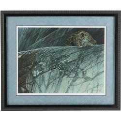 "Robert Bateman's ""Leopard Ambush"" L.E. Print"