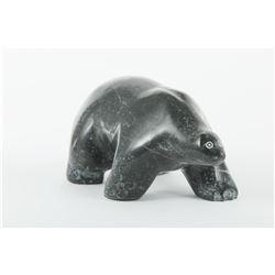 """Eddie Oleekatalik's """"Bear Walking"""" Original Sculpture"""