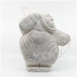 """J.C.'s """"Hunter"""" original Inuit carving. Carved in 1998,"""