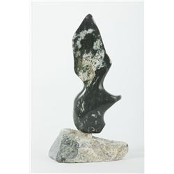 "Joe Poodlat's ""Bird on Base"" Original Inuit Carving"