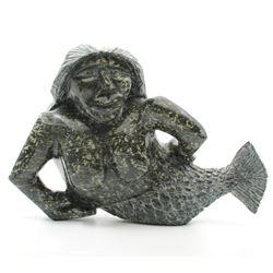 """Jonah Jahulutaq's """"Sedna"""" original Inuit carving."""