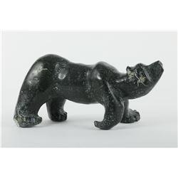 "Joseph Quqqiaq' s ""Bear Walking"" original Sculpture"