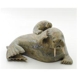 """Kelly Etidlui's """"Walrus"""" original Inuit carving. Carved"""