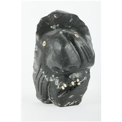 "Leo Uttaq's ""Shaman Face"" Original Inuit Sculpture"